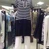 マリンテイストのオススメ『ニットワンピース』★奈良・ファッションセレクトショップ★ラレーヌの画像