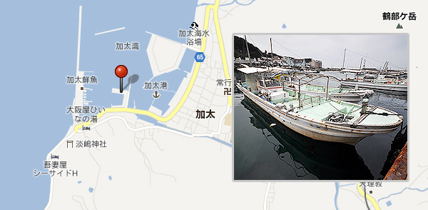 和歌山県加太の鯛釣り遊漁船 清海丸(せいかいまる)のブログ-地図