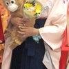 紺地オリジナル蝶の袴をレンタルしていただいたお客様の画像