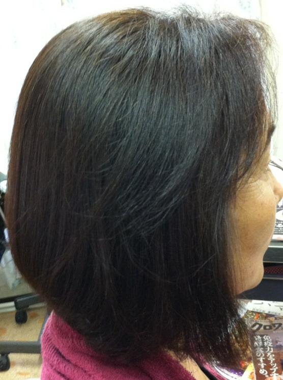 $横浜山手のミコノスサロン:ヘアー&エステあみゆぅずのブログ☆-ミコノス縮毛矯正のアフター