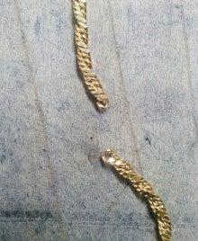 じゅえりー工房Kのブログ-K18ネックレス修理箇所