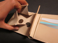 OXIO-CRAFT(オキクラ)の「革雑貨」製作日記-ハーフウォレッ