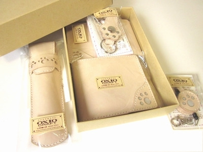 OXIO-CRAFT(オキクラ)の「革雑貨」製作日記-6点セット
