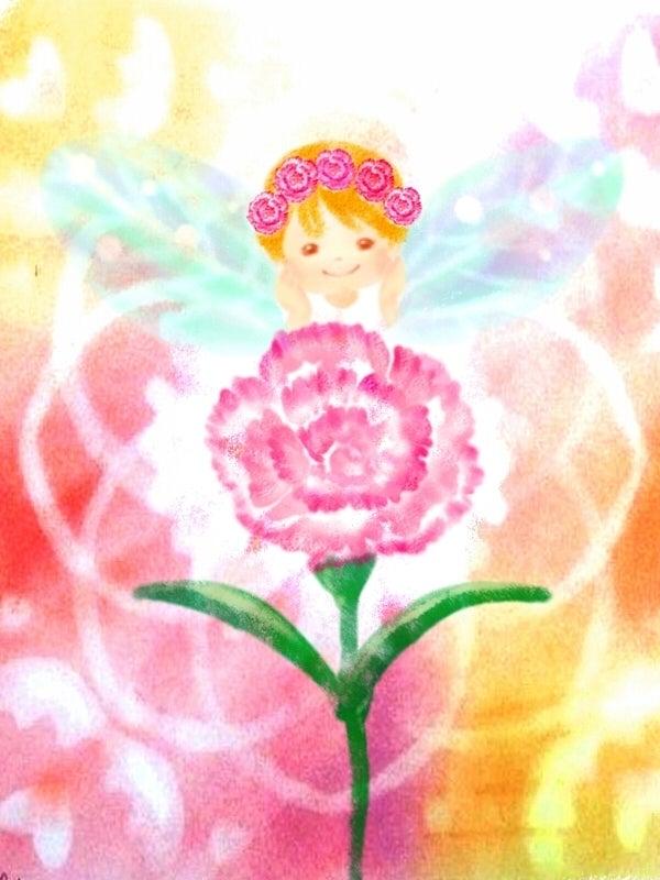 5月の誕生花イラストカーネーション ハートフルアートゆえのほっと