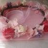 ●ベージュピンク色の花冠。大阪府の新婦様へお届け致しました。の画像