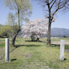 春の安曇野 ~常念道祖神・日輪舎~の画像