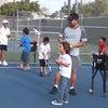 テニスレッスンの画像