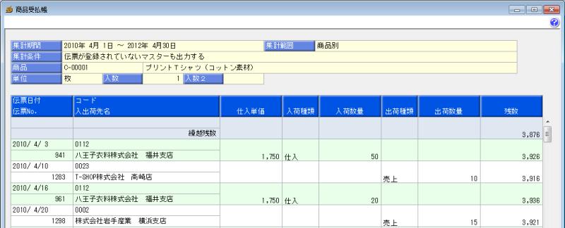 依田会計IT室長によるOBC奉行活用術-商品受払帳