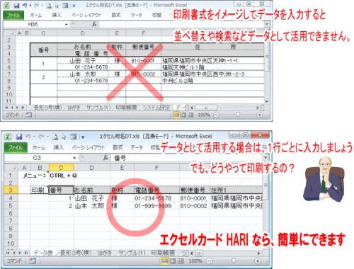 $オフィスアプリケーション(Microsoft Office)-エクセルデータベース