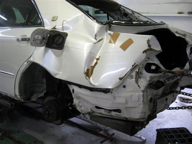京都の女職人が書く車のブログ☆★-事故 ヘコミ
