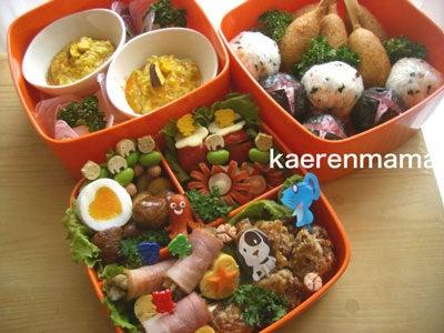 今まで作った運動会のお弁当!詰め方のコツ! kaerenmamaオフィシャルブログ「短時間でかわいいキャラ弁当」Powered by Ameba