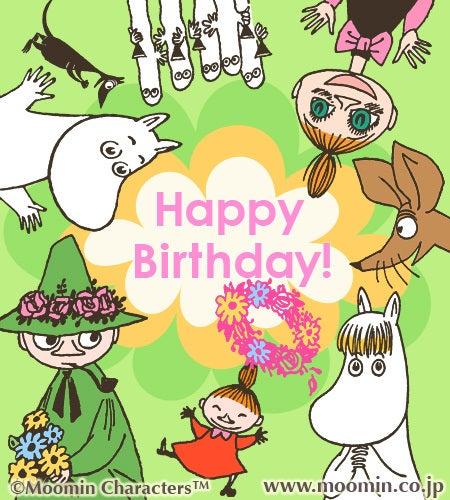ムーミンからhappy birthday sevensense