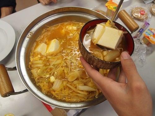 $上松技術専門校 木工ブログ2012-夜ごはん キムチ鍋