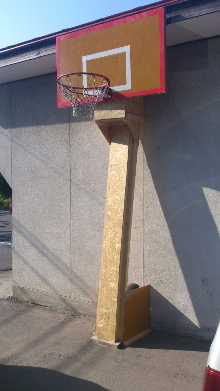 手作り バスケット ゴール