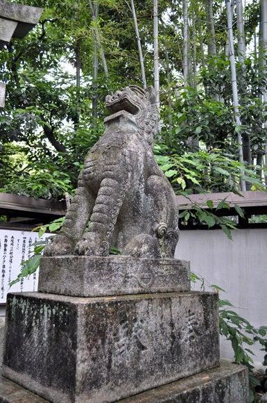 茶々吉とデジ一 のんびり旅-120525_車折神社狛犬