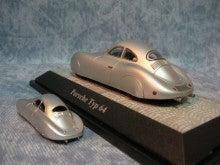 $1959PORSCHE356Aのブログ-ポルシェ64ミニカー2種(4)斜め後ろ向きアングル