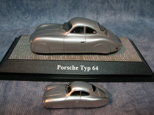 $1959PORSCHE356Aのブログ-ポルシェ64ミニカー2種(1)真横