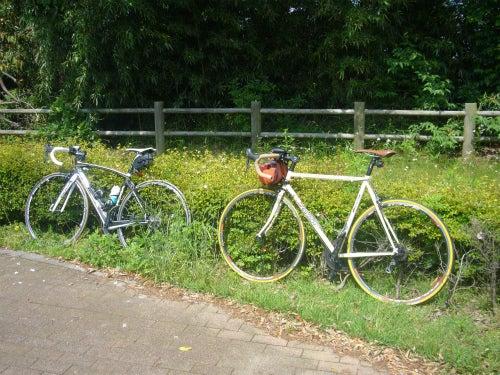 俺とビアンキ-休憩自転車