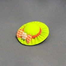 モルモットの帽子(ライトグリーン:オレンジリボン)
