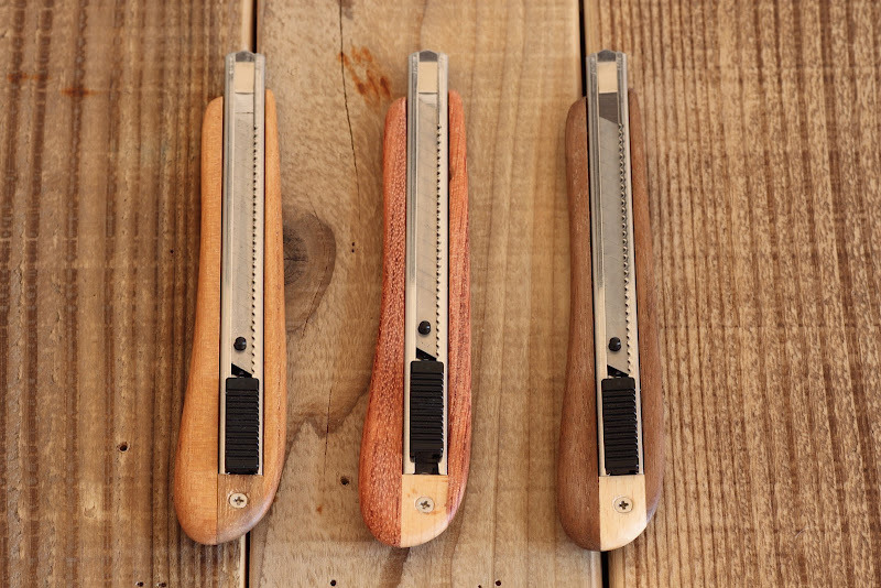 カッターナイフも木製 リノベーション ナチュラルでカントリーな