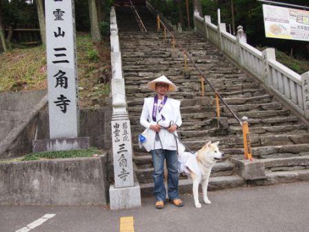 秋田犬カイの日常-三角寺1