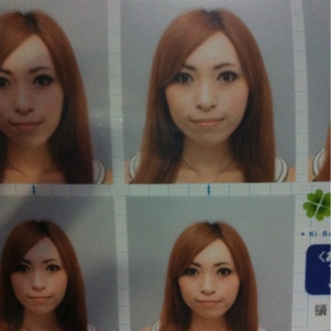カラコン パスポート 写真