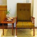 【中古】【イージーチェア】北欧家具 デンマーク ビンテージ家具 アンティーク 一点物 北欧インテリア 北欧モダン イス 椅子