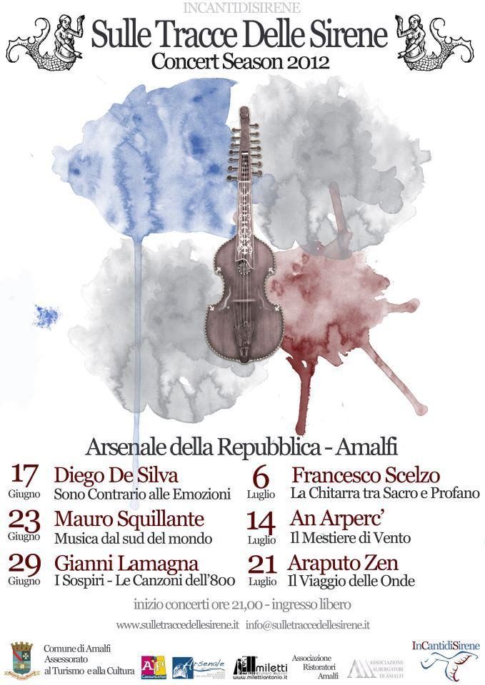 【彼女の恋した南イタリア】 - diario  イタリアリゾート最新情報    -アマルフィ 美しいコンサートのお知らせ
