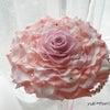 ●ピンク色のメリアブーケ。ラインストーン付き。を愛媛県の花嫁様へお届けしました。の画像