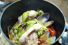 食べて飲んで観て読んだコト+レストラン・カザマ-シマゾイのココット焼き