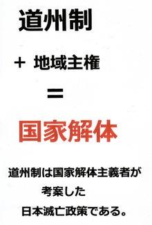 $日本人の進路-道州制は日本滅亡政策である