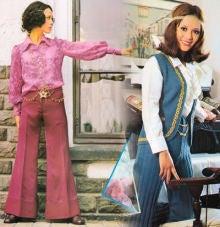 イヴ・サンローランは60年代後半にパンツスタイルを積極的に提案しま すこれはシティ・パンツ と名づけられパーティードレスとしてではなく機能美を追求するものだった