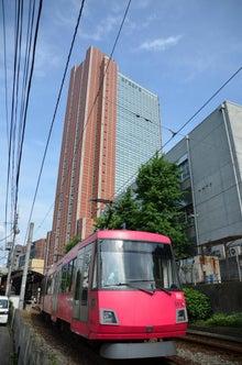 ジェームスのブログ-世田谷線とキャロットタワー