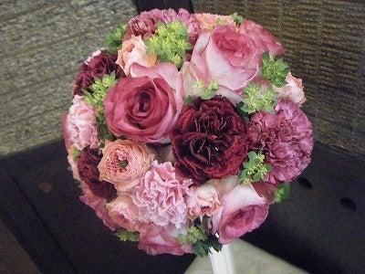 呼吸する様に花を仕入れ、取り合わせる。 花禅-120701