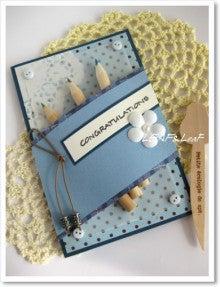 青の入学&合格祝いカード