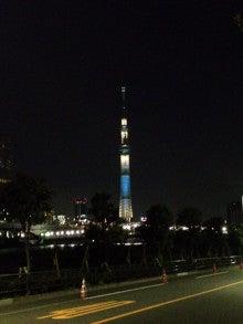 ecoBike編集部イワトビのブログ-南千住の橋から見たスカイツリー