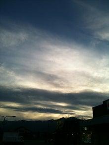 きな粉餅柄の猫。-松本の空 夕暮れの青