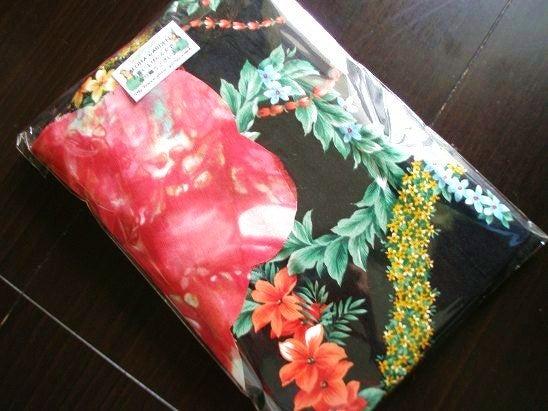 $Hawaiian Quilt Garden-レッドシェードプルメリアキット裏