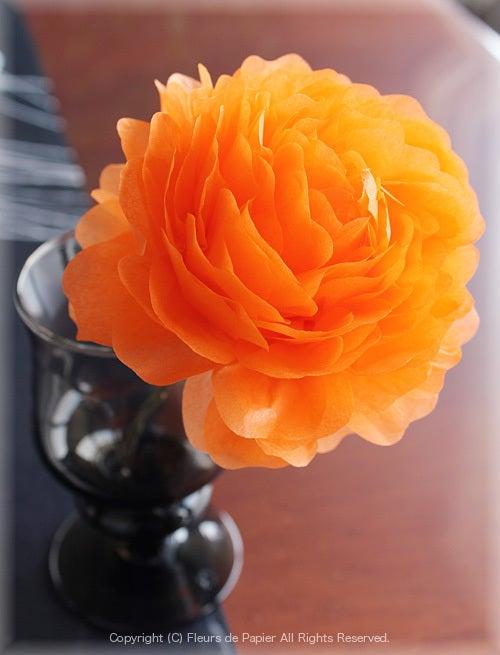 お花紙で作るペーãƒ'ーフラワーのバラの作り方 Paper Flowers ペーãƒ'ーフラワーデザイナー 前ç