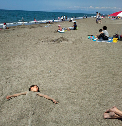 $ときどきグルメになりたくなるブログ-釜谷浜海水浴場(秋田県三種町)4
