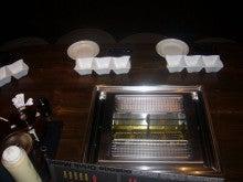 福山市神辺町串揚げ居酒屋『あげあげ』自分で揚げれて、食べ放題もやってます。-備えつけフライヤーで串揚げを自分で揚げれる