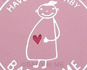 $マタニティママと赤ちゃんの大事な時期をオシャレにメッセージ♪マタニティのシンボルマークBABY in ME公式ブログ-BABY in MEバッグチャームピンク部分