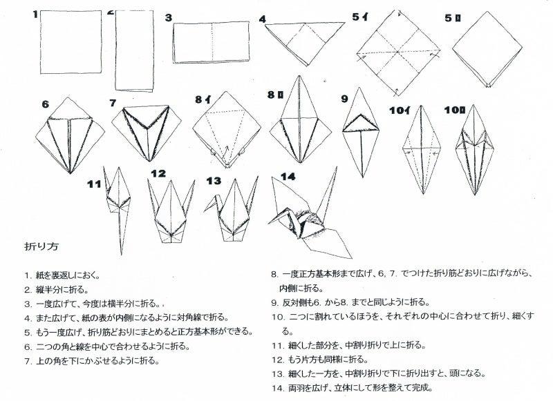 折り紙の 鶴の折り紙の折り方 : ameblo.jp