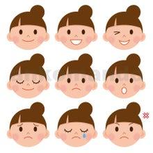 男性女性の表情のイラスト イラストレーターあんころもち