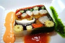 食べて飲んで観て読んだコト+レストラン・カザマ-夏野菜のテリーヌ