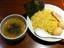 $智信の部屋-東京とんこつ 蔓燈行 特製バジル風味塩つけ麺