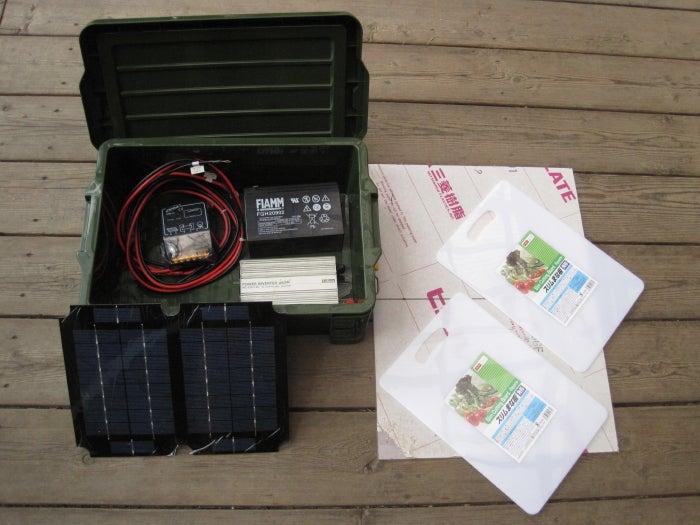 歩き人ふみの徒歩世界旅行 日本・台湾編-ソーラー充電器材料