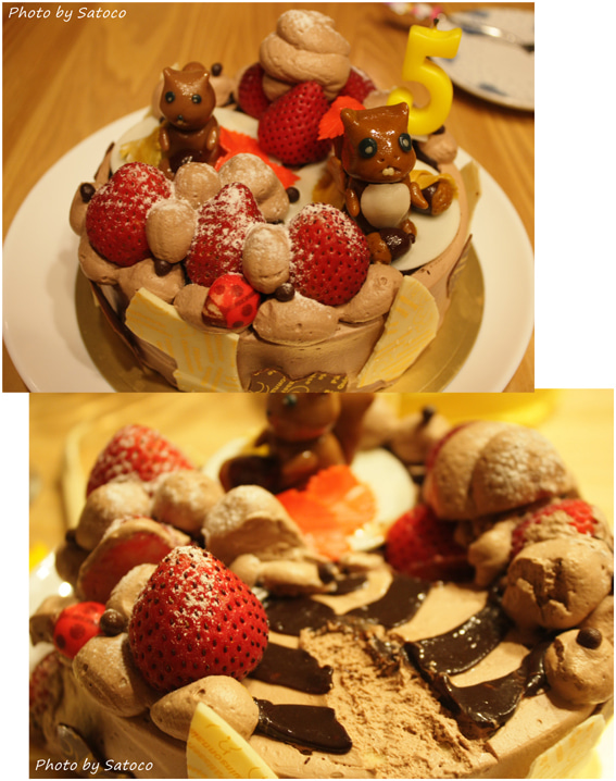 いっしょにあるこ♪-本当のケーキ♪