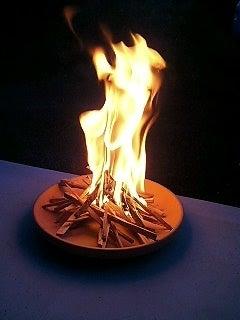 無印良品の家 木の家 ちぃの家-迎え火