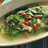 8月の薬膳 モロヘイヤと蓮の実のスープ、陳皮の香りの画像